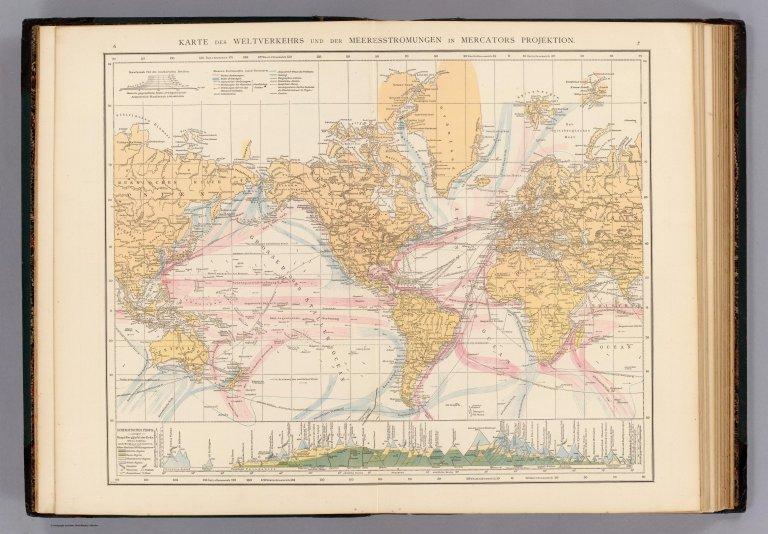 Weltverkehrs, Meeresstromungen.
