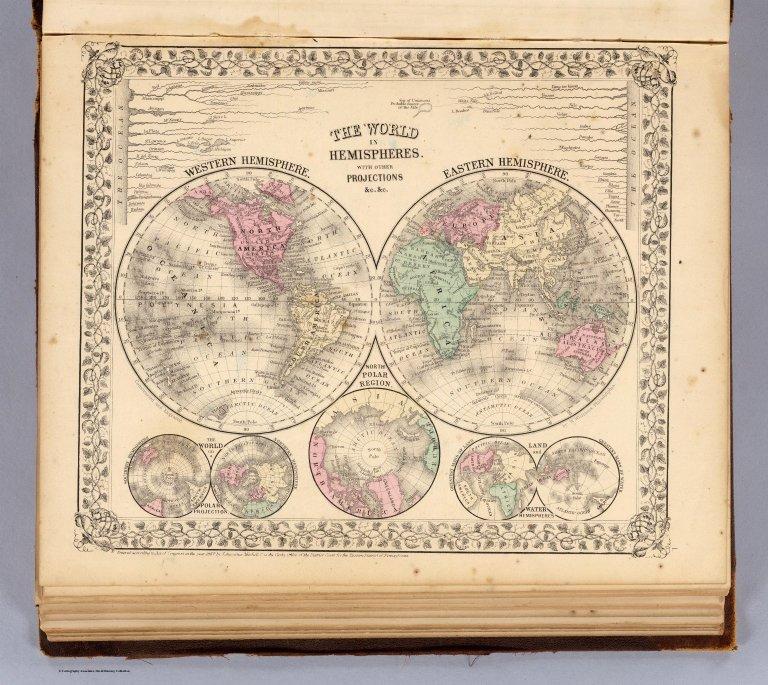 World hemispheres.