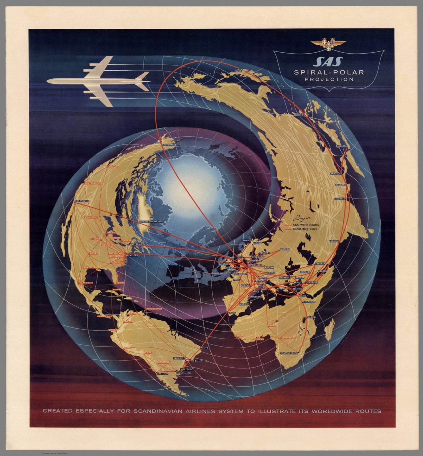 SAS Spiral-Polar Projection.