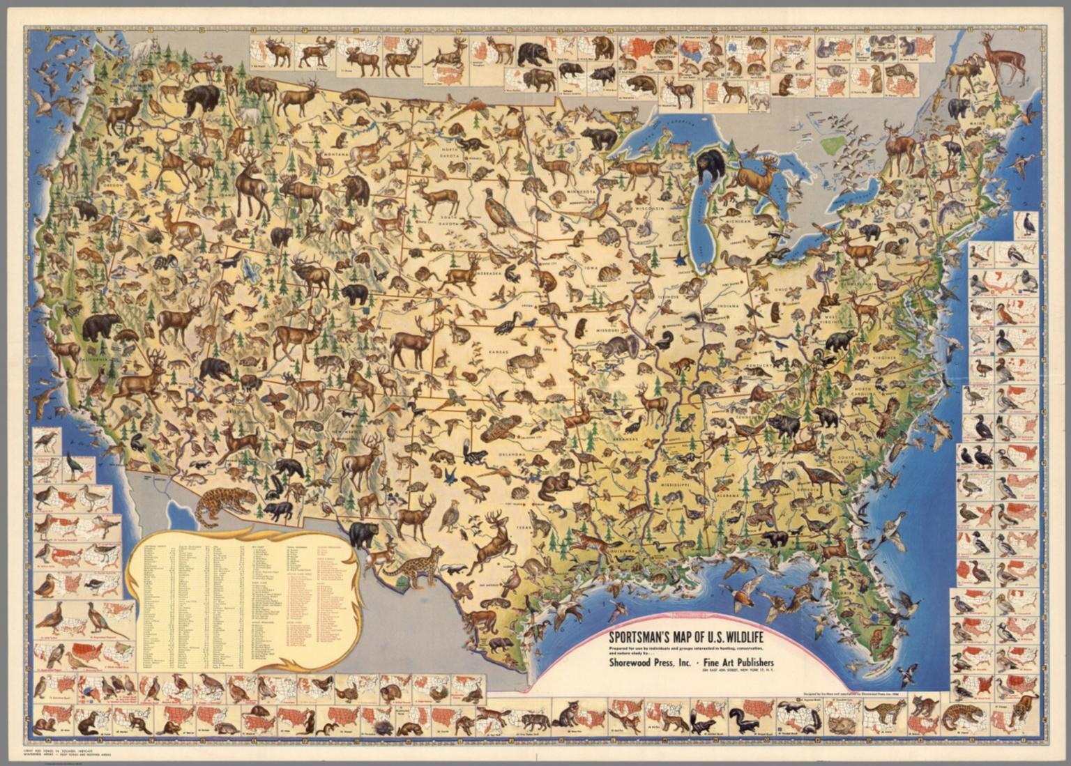 Sportmen's Map of U.S. Wildlife.